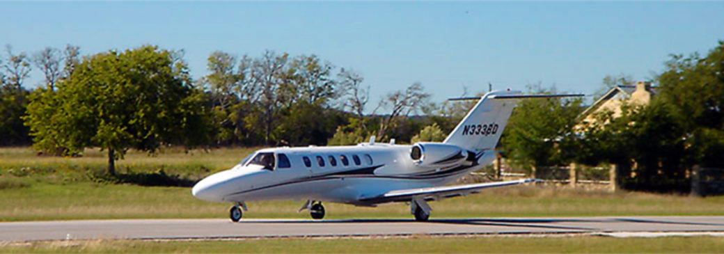 Jet at Boerne Airport Texas